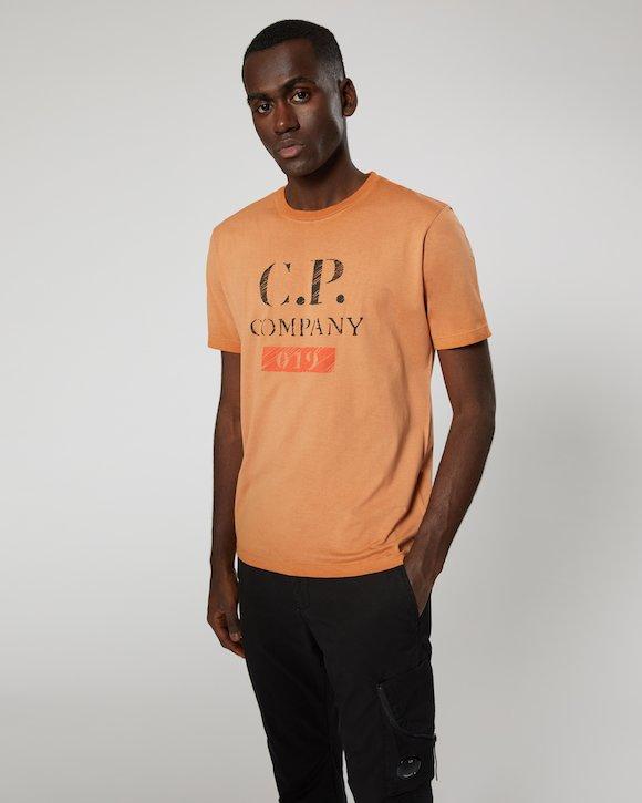 Re-Colour Makò Jersey Vintage Logo Crew T-Shirt in Topaz
