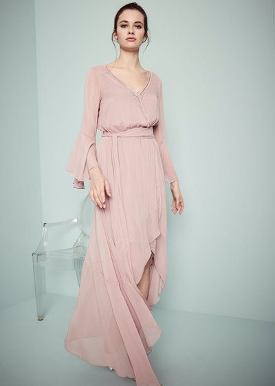 Athos dress with crossed neck