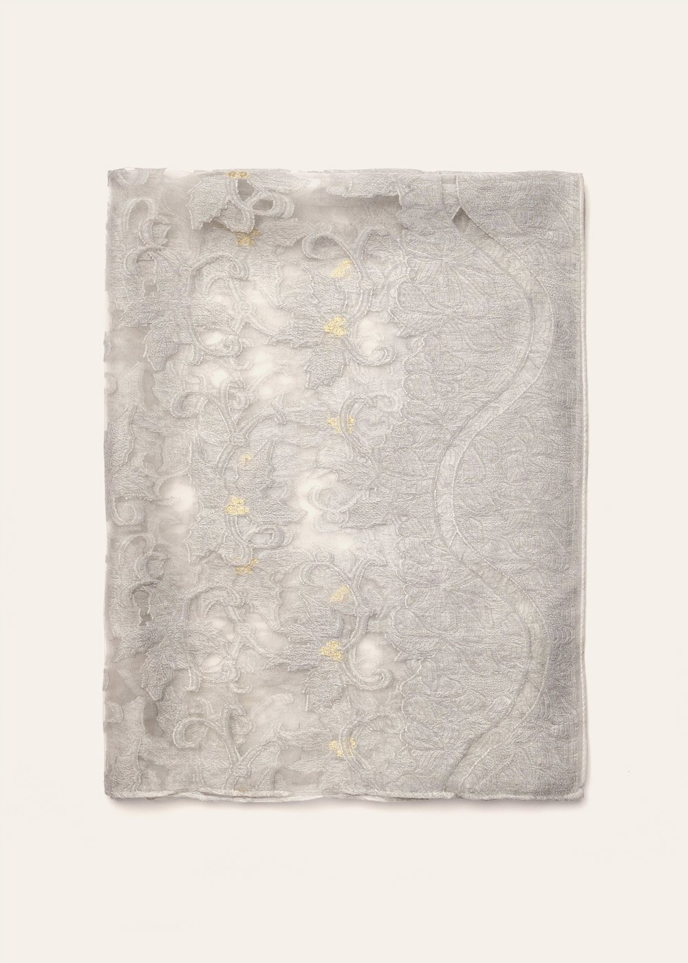 Sheela scarf with embroidery - Silver - Woman
