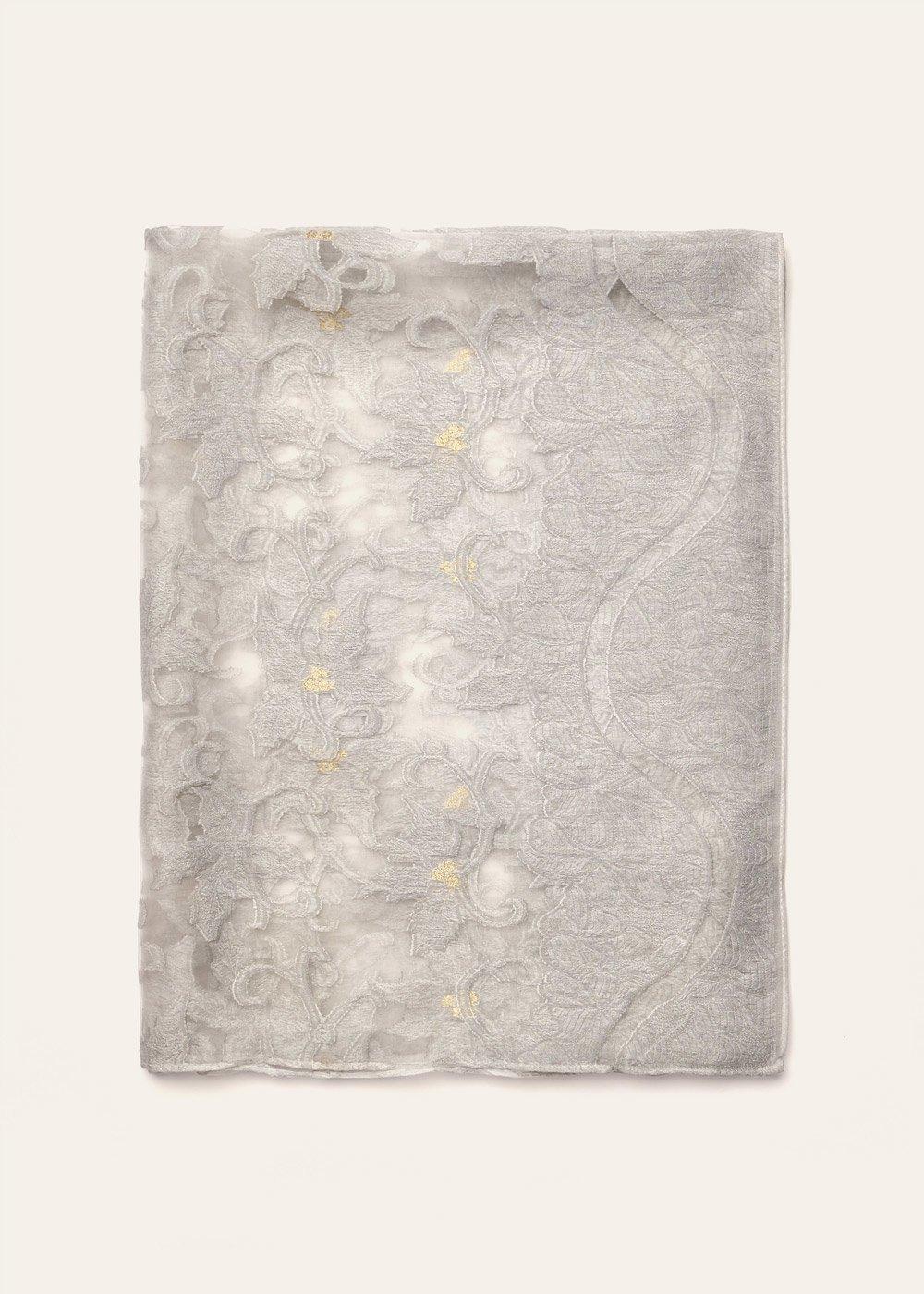 Sciarpa Sheela con ricami - Silver - Donna