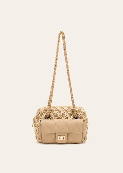 Dogo straw clutch bag with small pocket