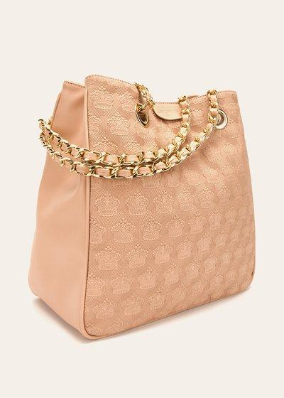 Shopping bag Bagsy con corone in rilievo