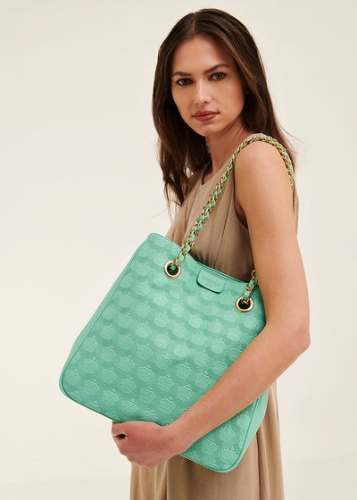 Bagsy shopping bag with embossed crowns