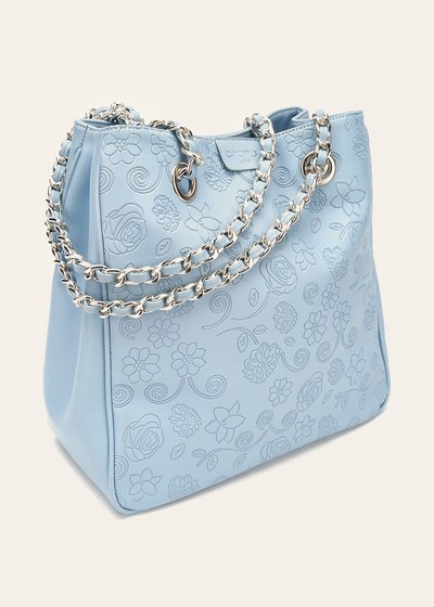 Baika shopping bag with floral pattern