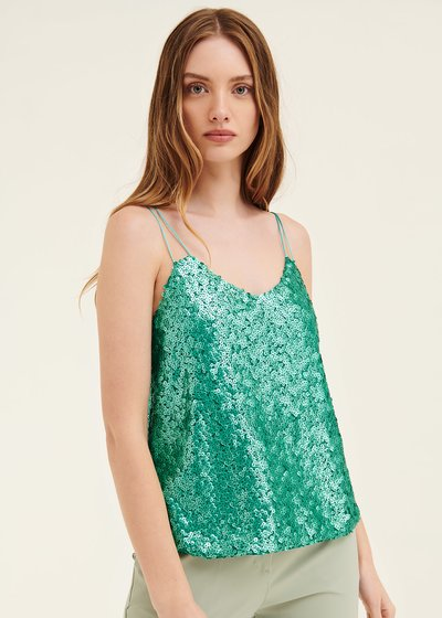 Troy sequined top