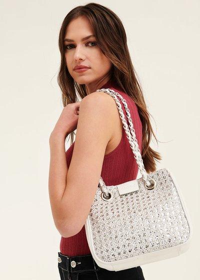 Bayr shopping bag with lurex