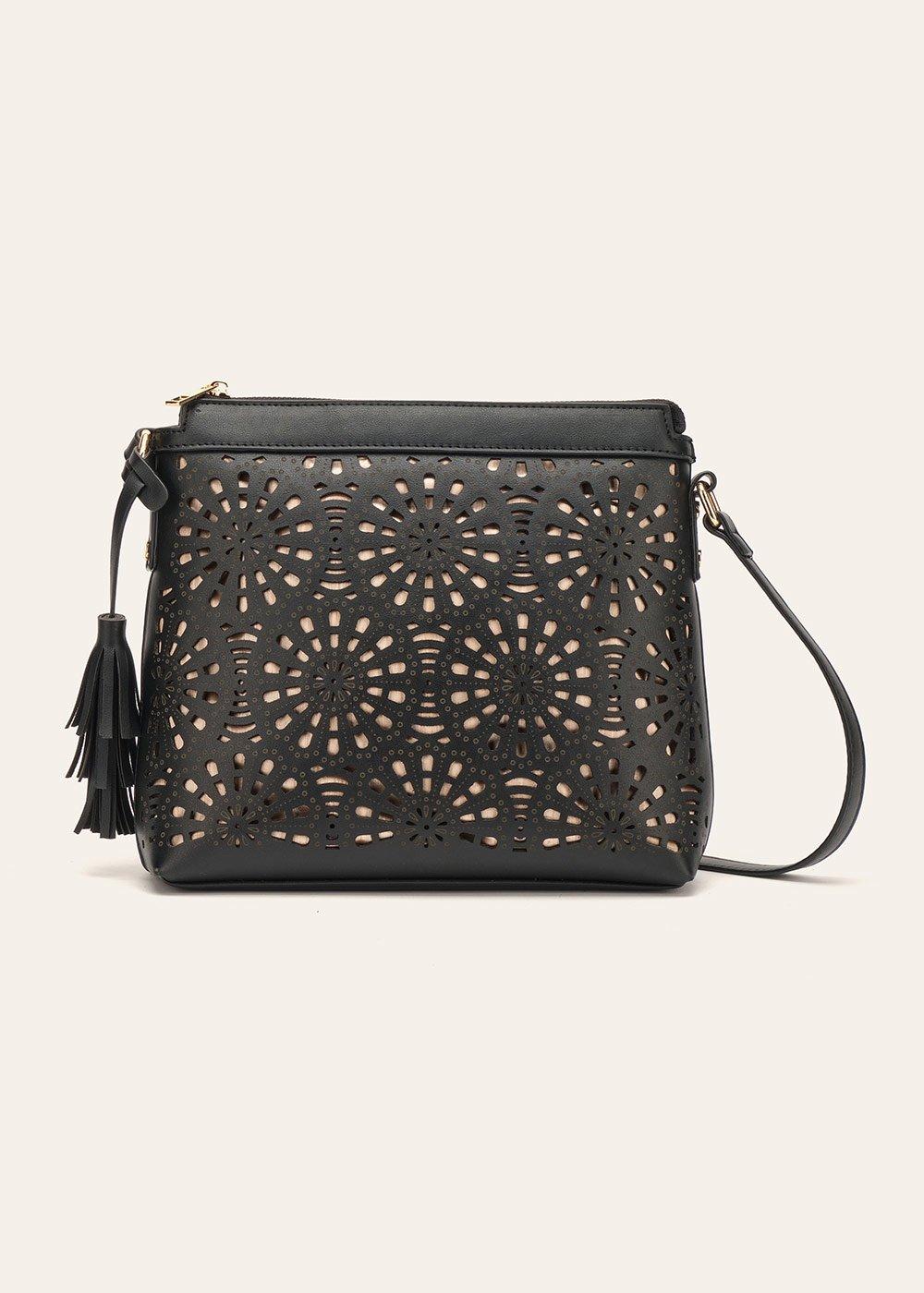 Beck openwork faux-leather shoulder bag - Black - Woman