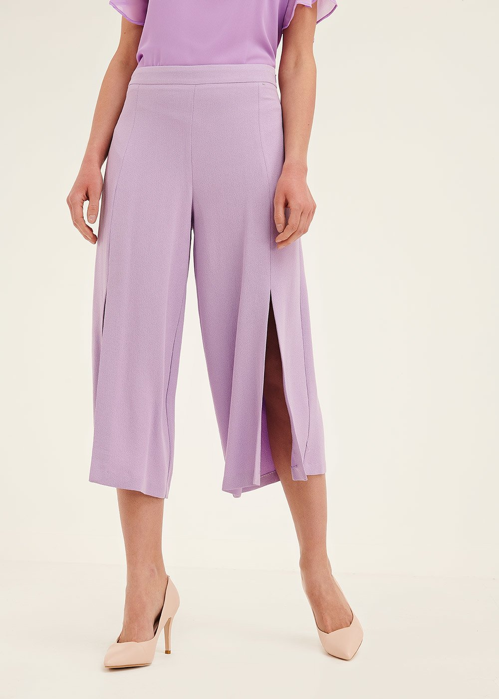 Patric short palazzo trousers - Bouganville - Woman