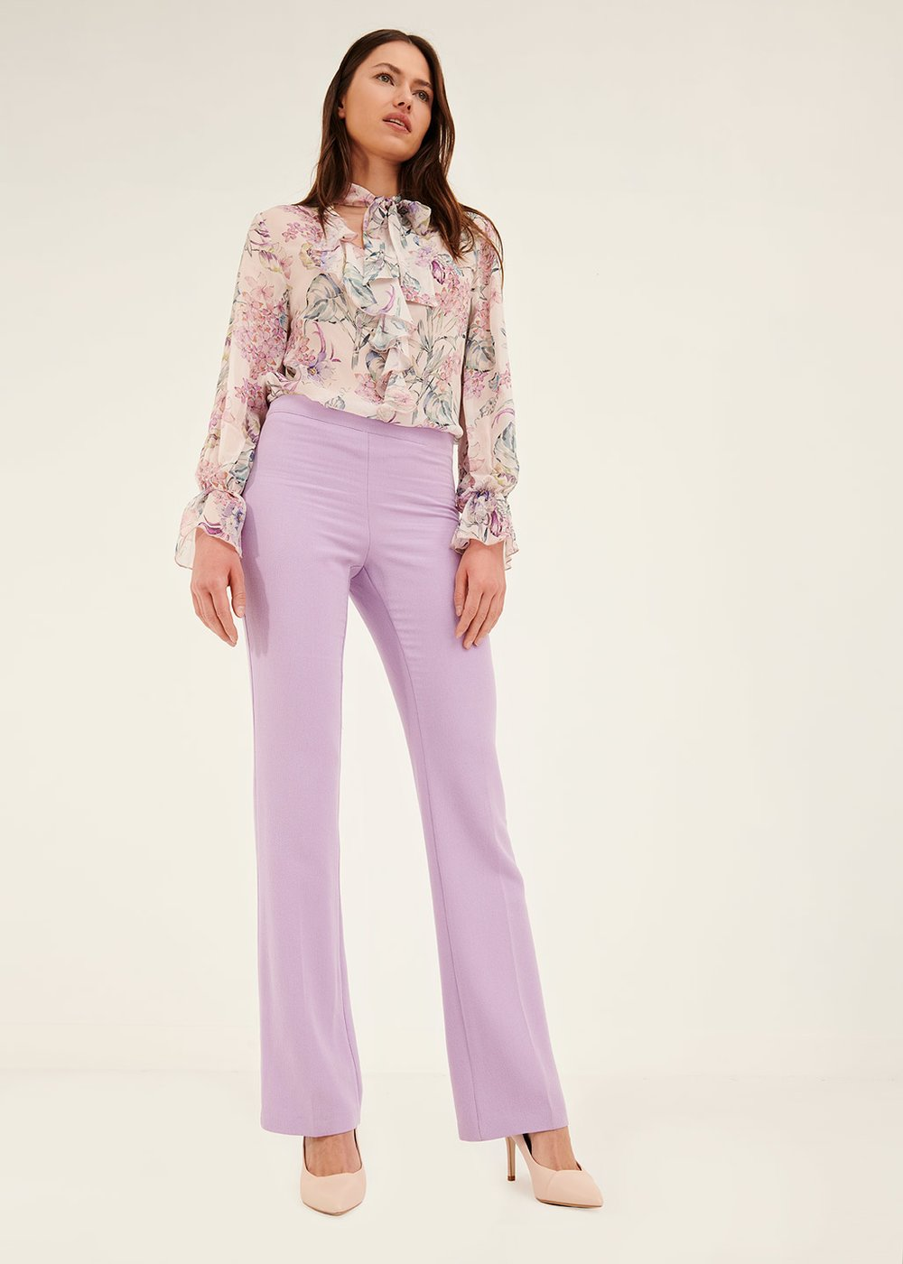 Victoria flared trousers - Bouganville - Woman