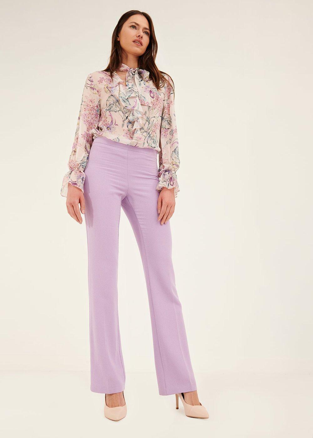 Pantalone a zampa Victoria - Bouganville - Donna