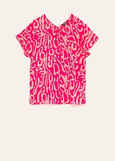 Cornelia animal print blouse