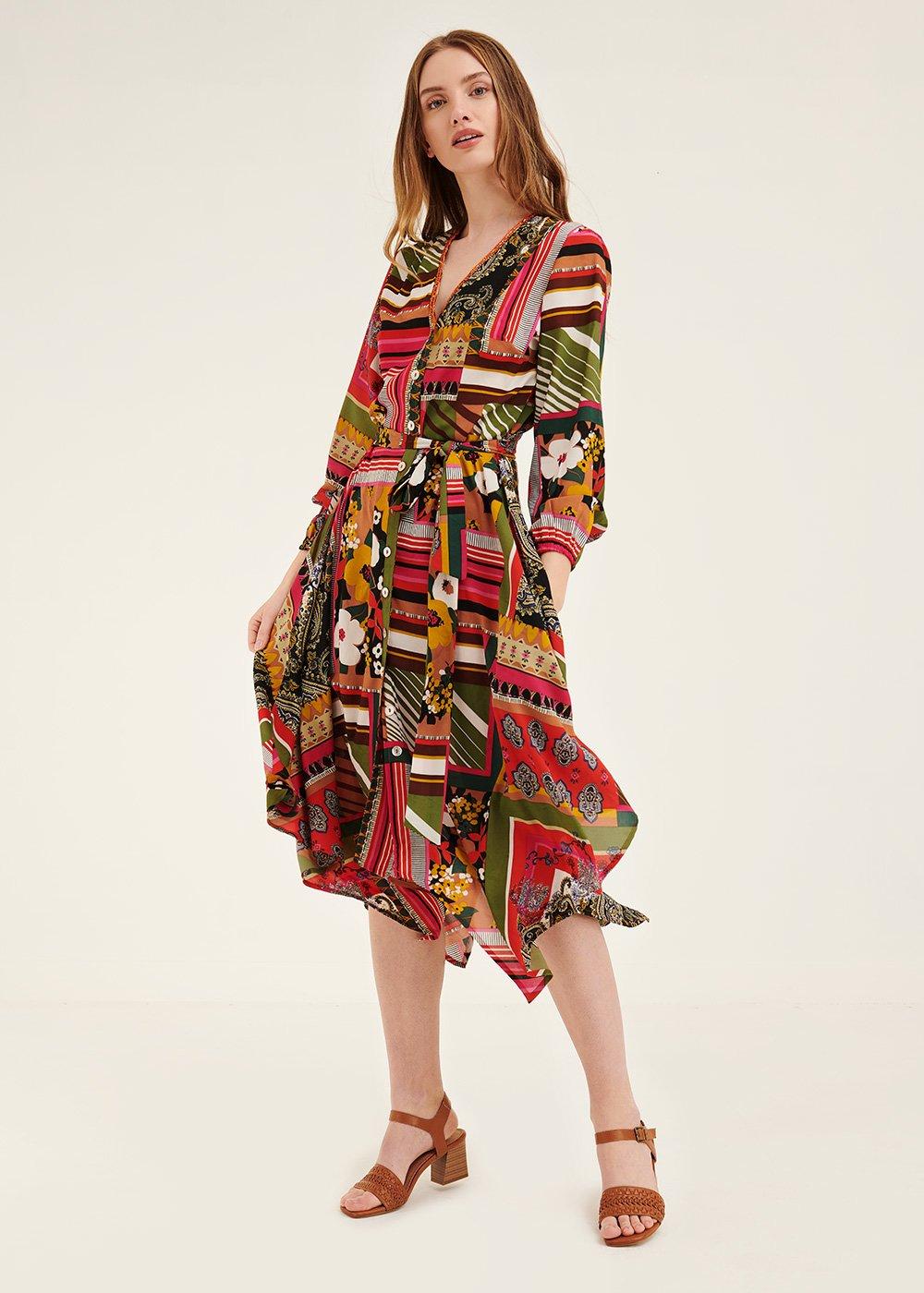 Aydan patterned dress - Aragosta\ Timo\ Fantasia - Woman