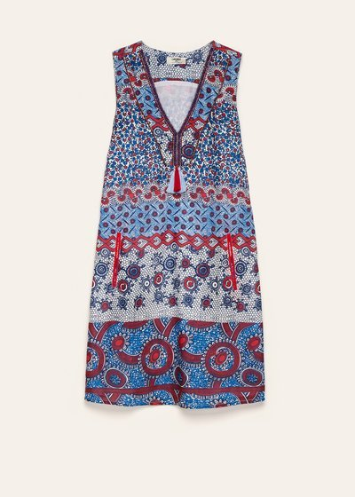 Amry majolica print dress