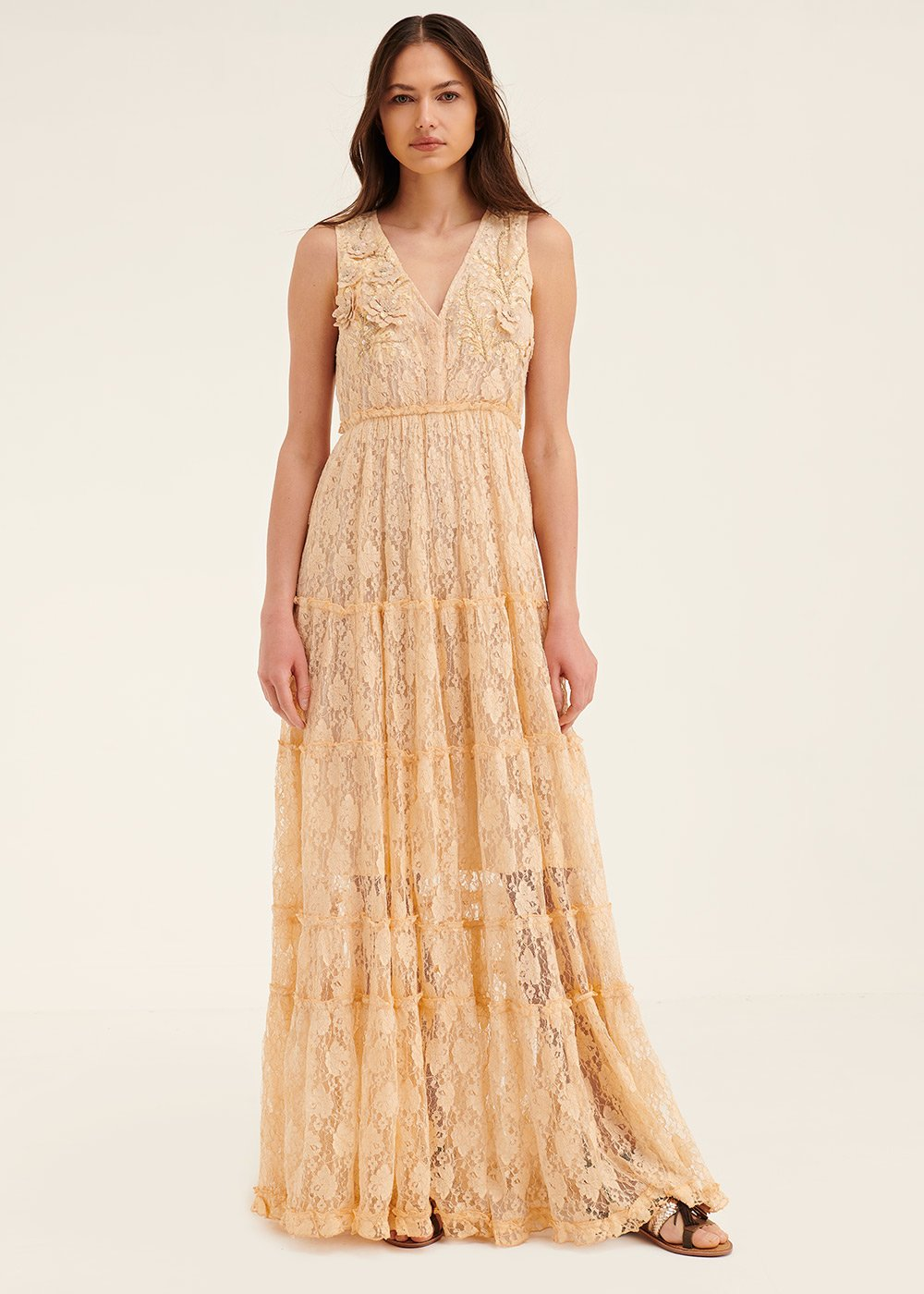 Adyd dress with flounced skirt - Pink - Woman