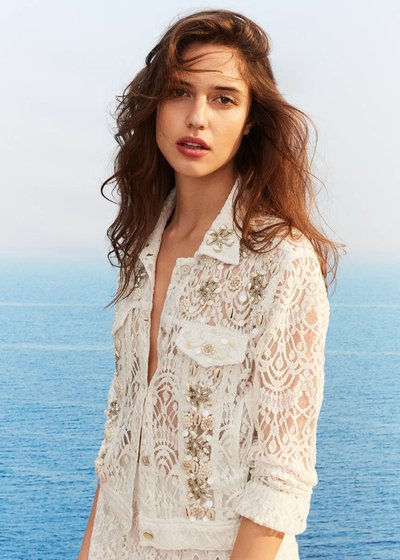 Caren lace jacket with shells