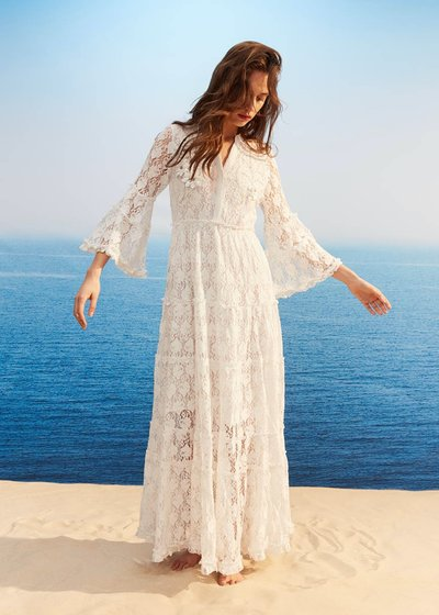 Arlyn embroidered lace dress