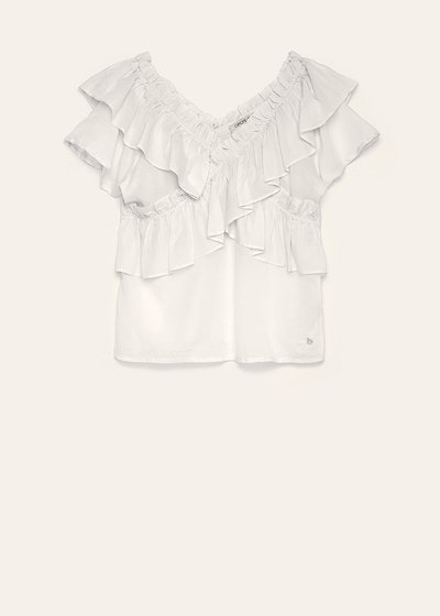 Tish blouse with ruffles