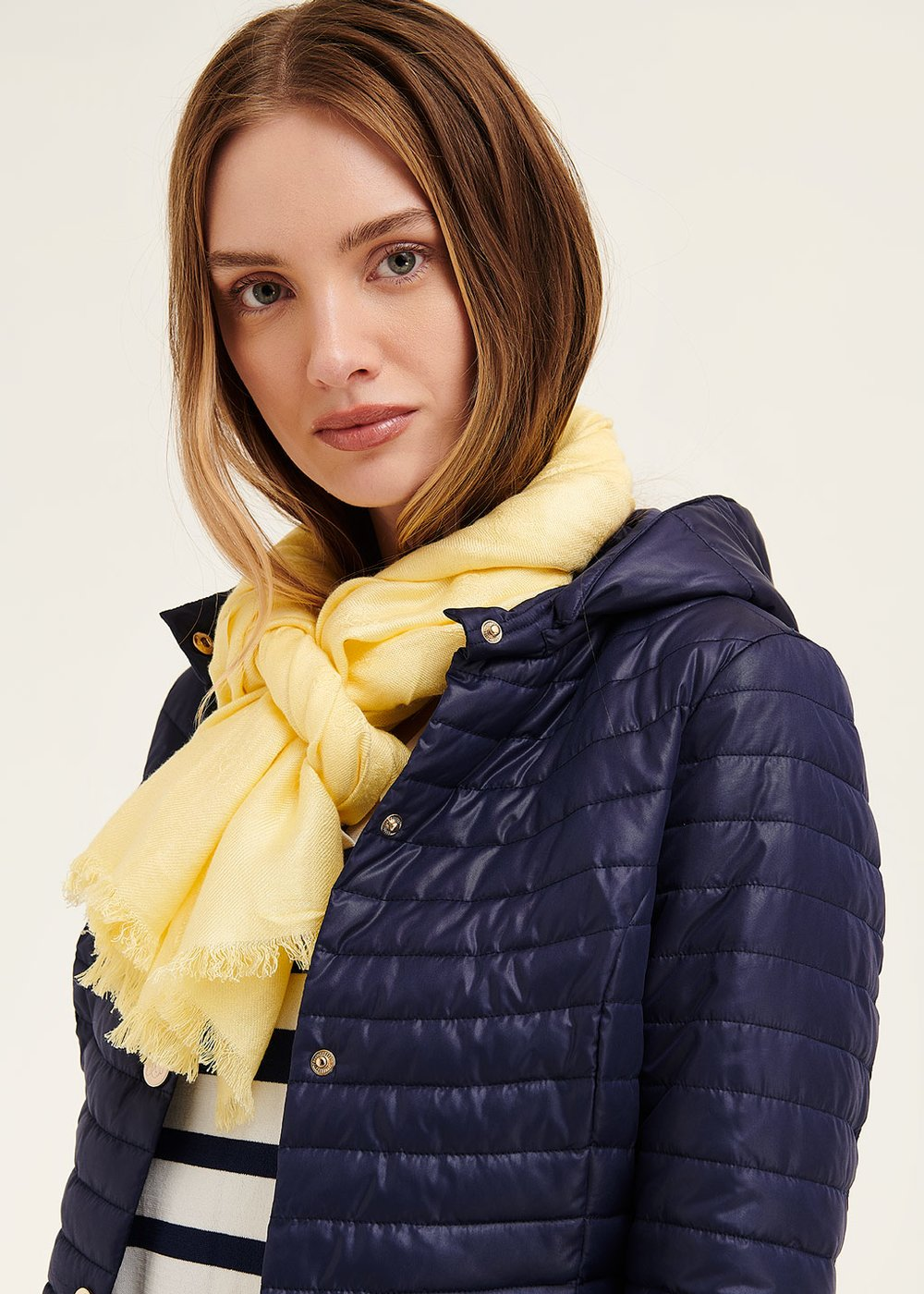 Shan basic scarf with logo - Limone - Woman