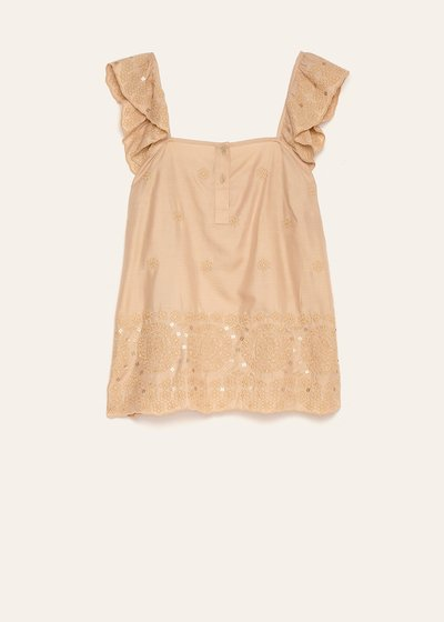 Tomas top with ruffled shoulder straps