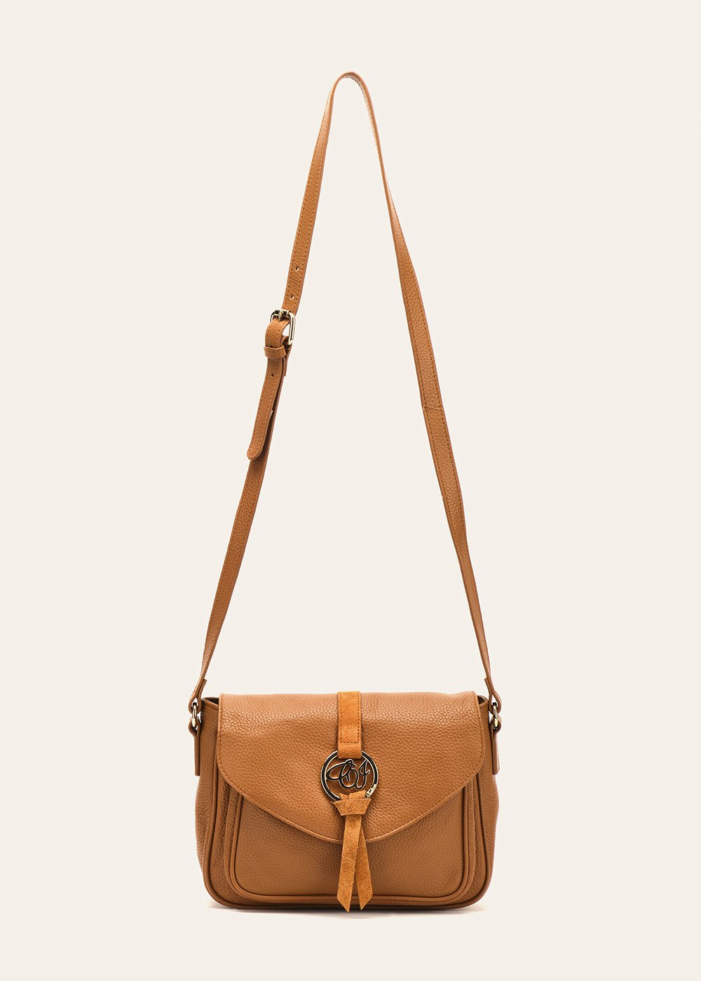 Belinda shoulder bag with flap fastening - Pecan - Woman