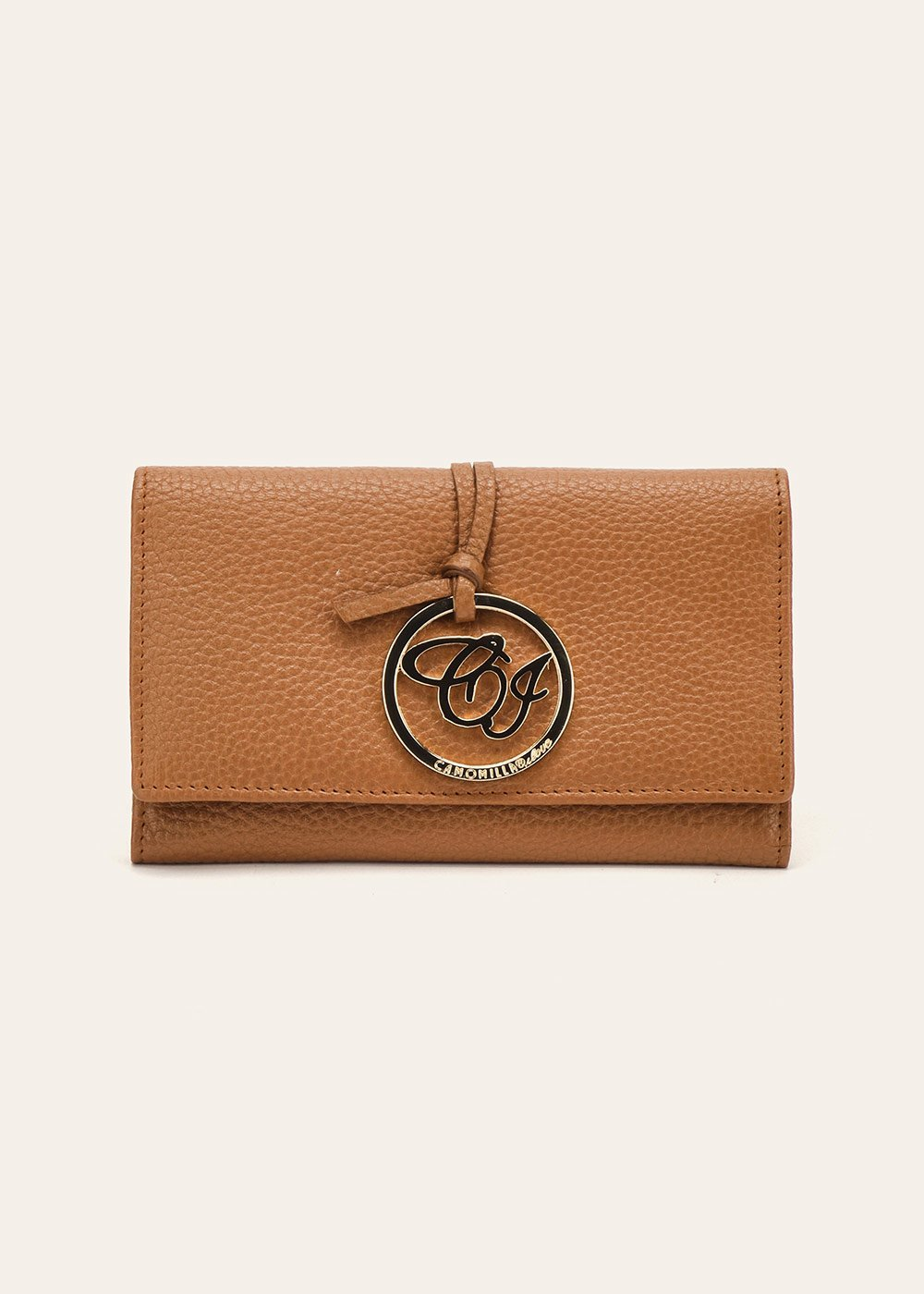 Peggy genuine leather wallet - Pecan - Woman