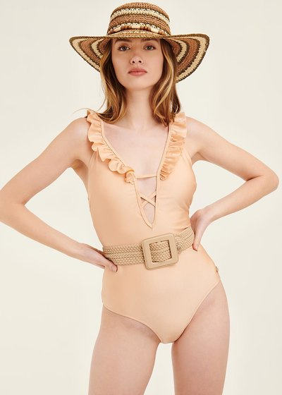 Cesar swimsuit with frills
