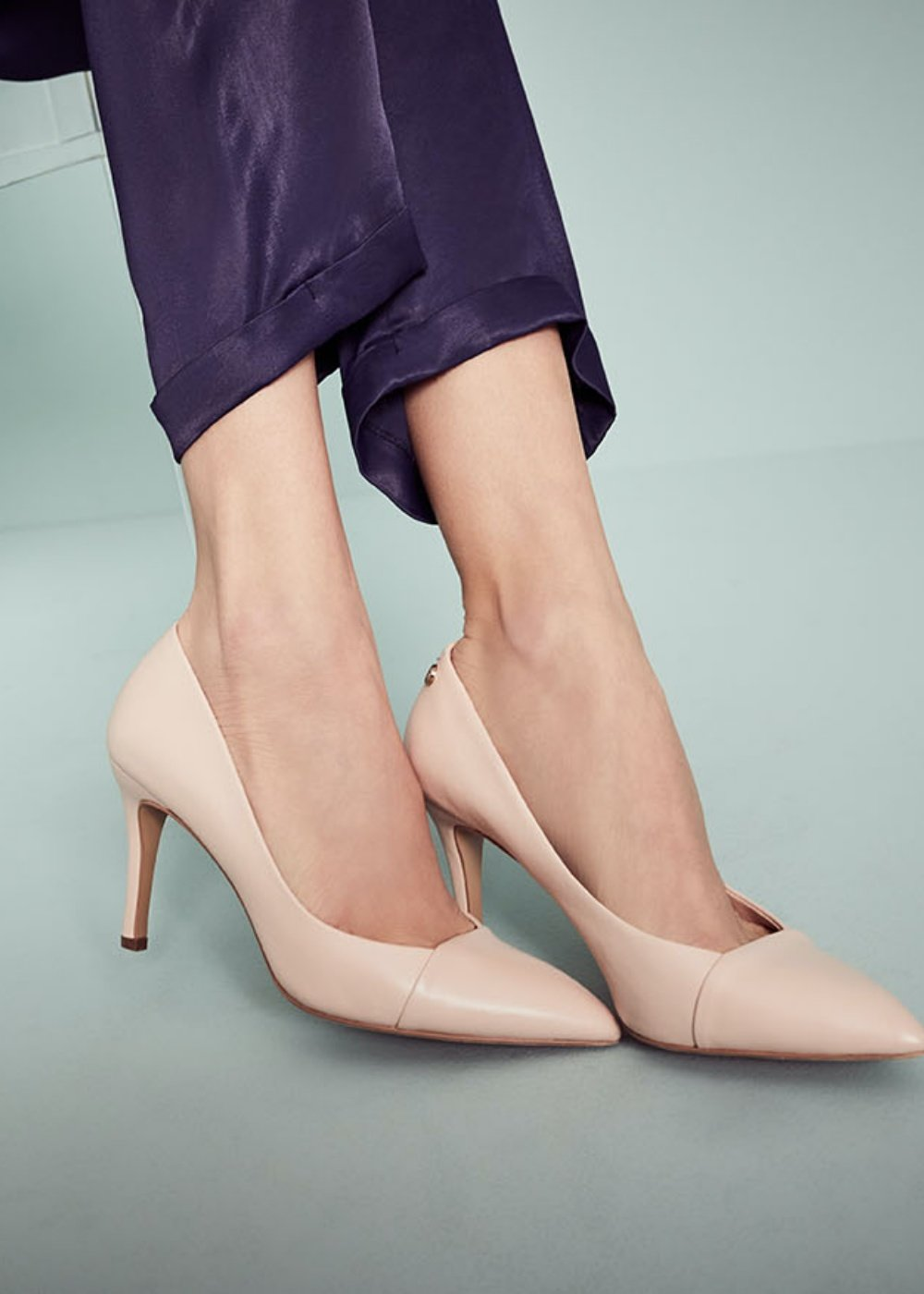 Sindy genuine leather court shoes - Nude - Woman