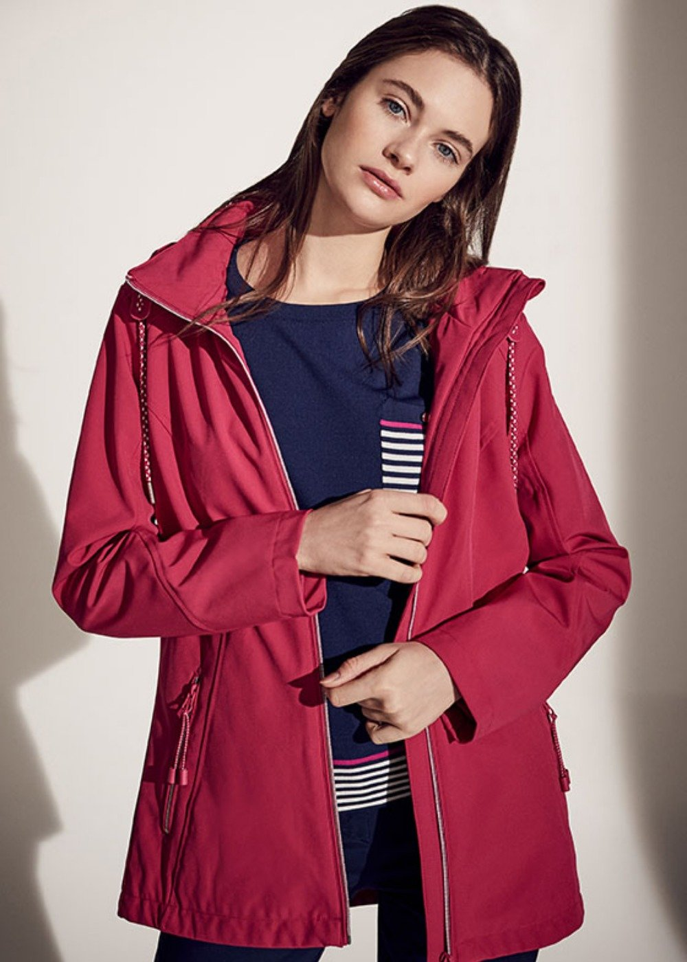 George jacket in technical fabric - Rasberry - Woman