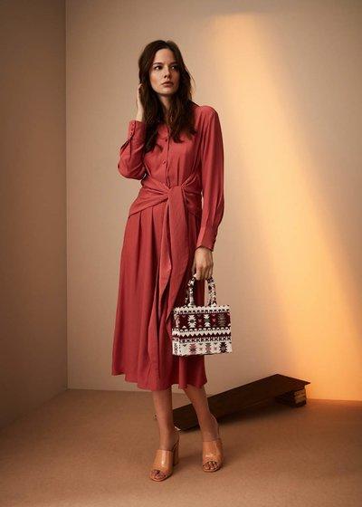 Angelie dress with waist knot
