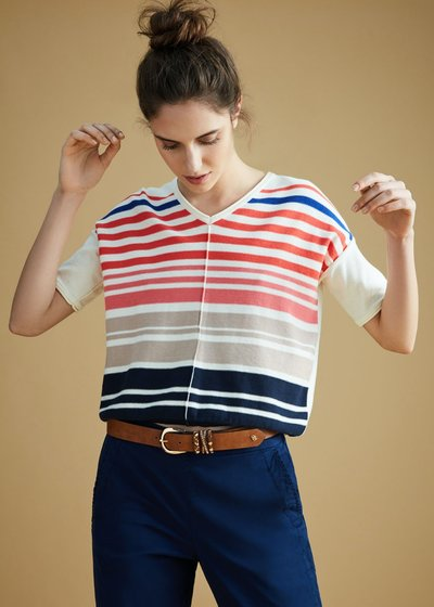 Mariann T-shirt with striped print
