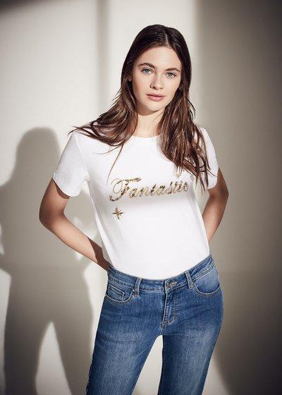 T-shirt Sandys con scritta