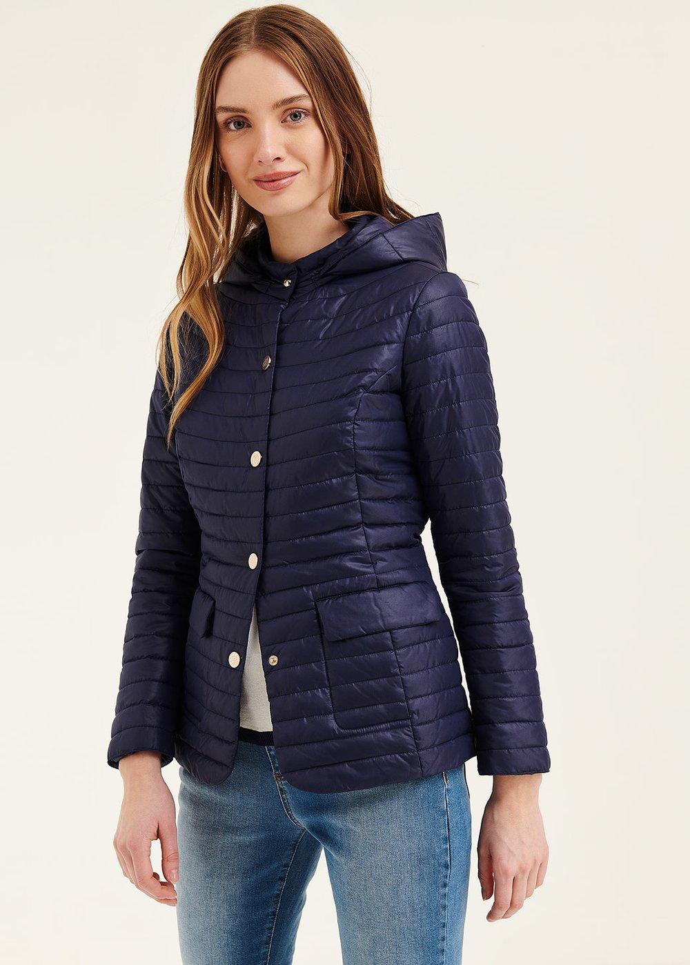 Garrys jacket with hood - Ultramarine - Woman