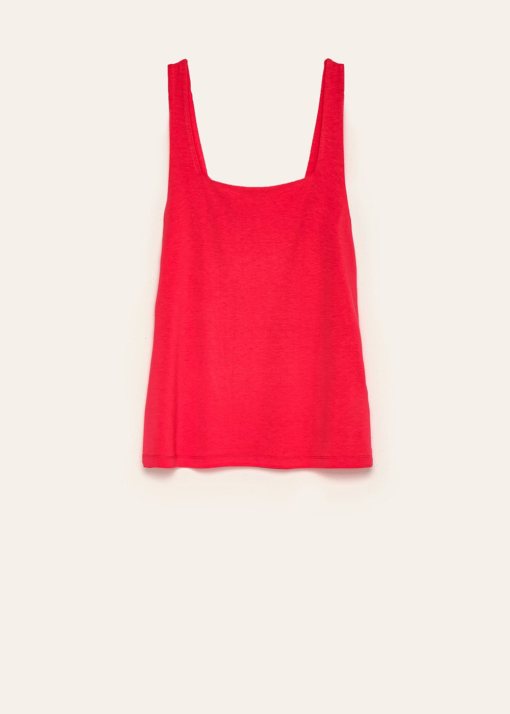 Ted basic top with square neck - Rasberry - Woman