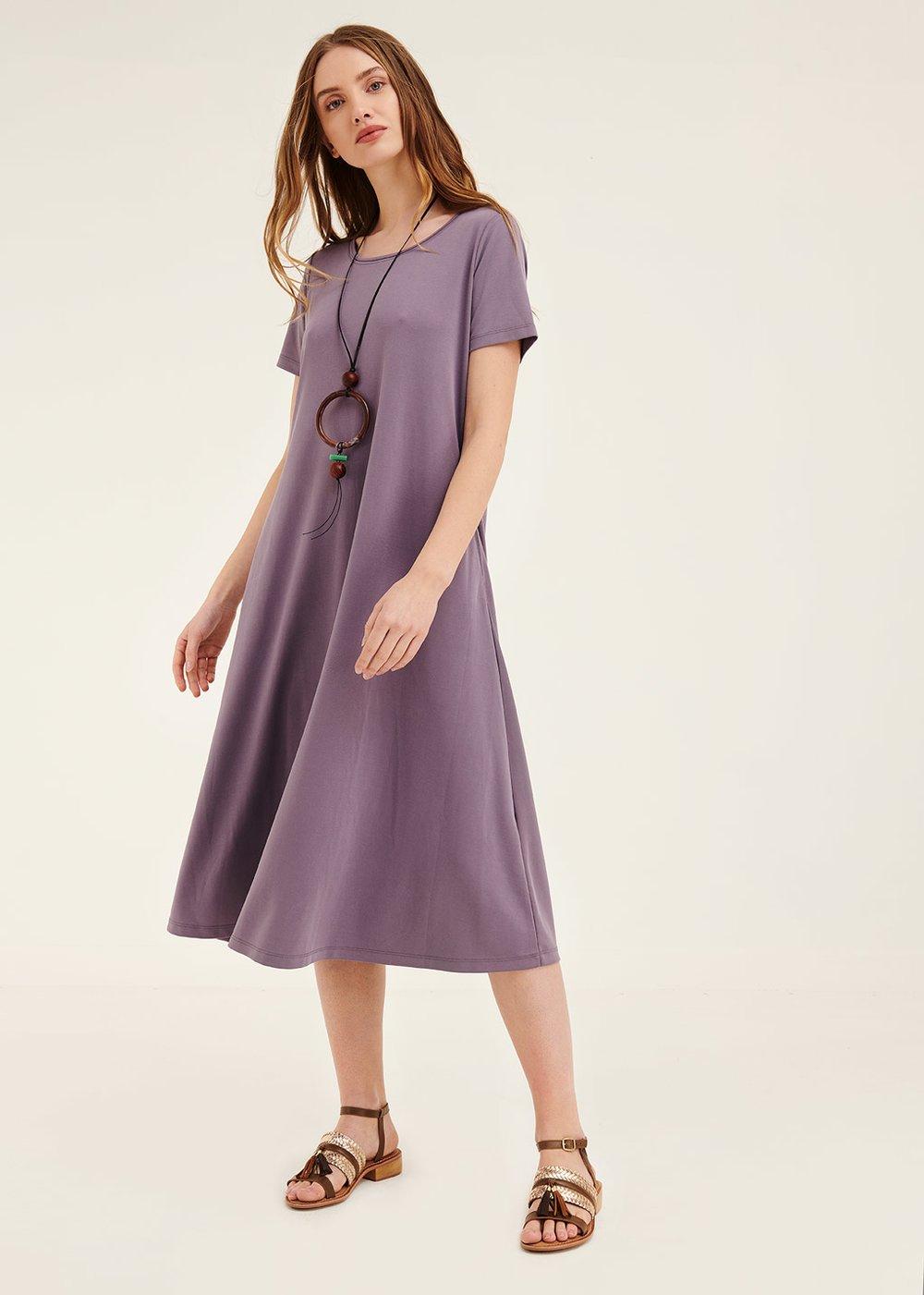 Andres modal jersey dress - Purple - Woman