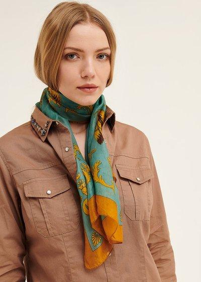 Sand baroque print scarf