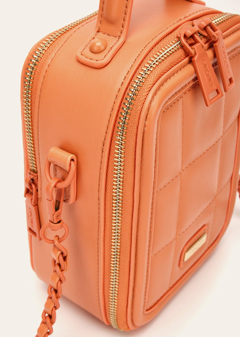 Barley multi-compartment clutch bag - Melon - Woman