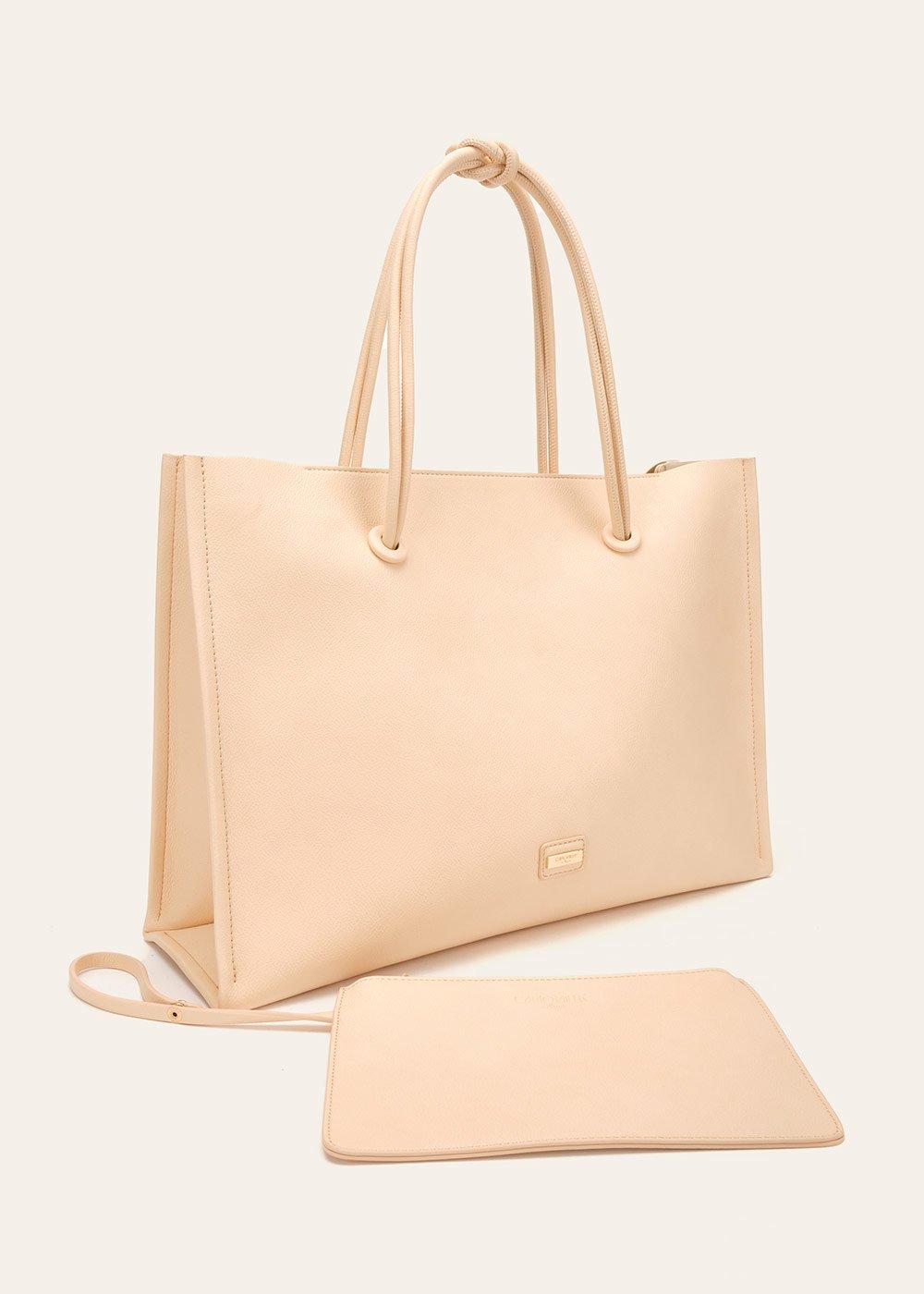 Shopping bag Bessie morbida - Nudo - Donna