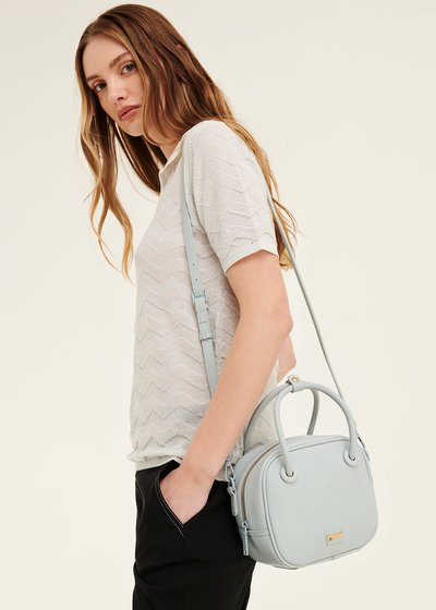 Berry shoulder bag with tubular handles