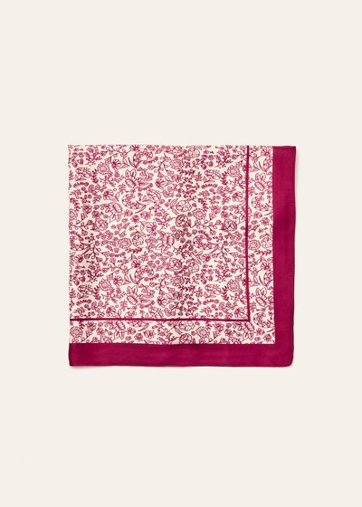 Sarah maxi scarf with flower print