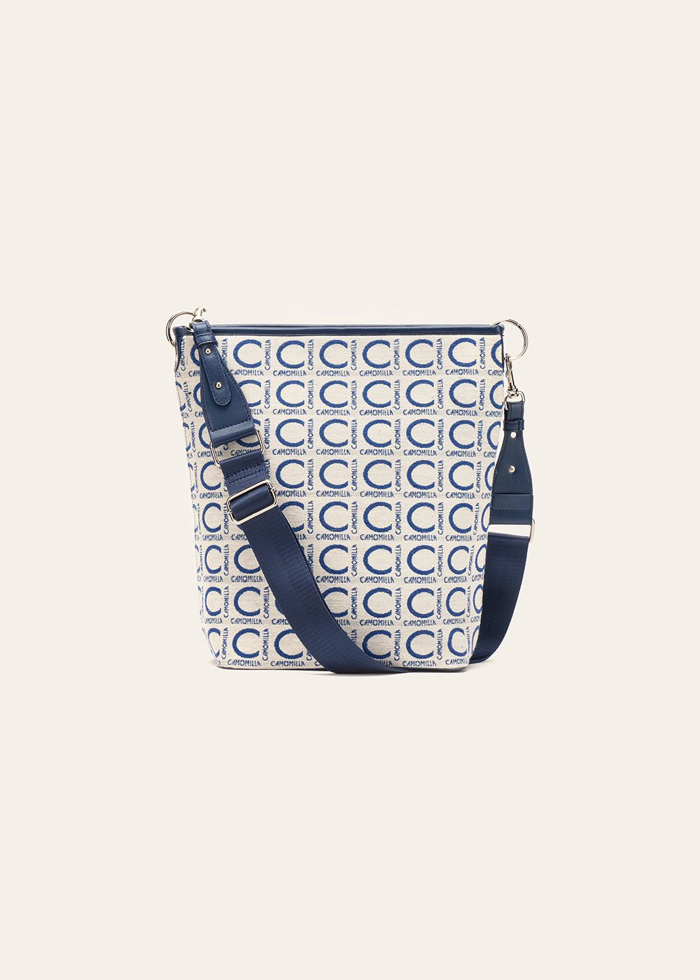 Bardy logomania shoulder bag - Avion / White - Woman