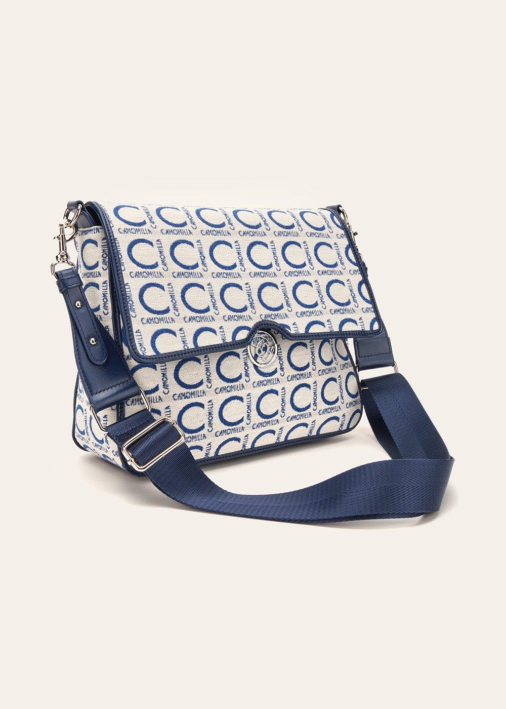 Batyk logomania shoulder bag with flap - Avion / White - Woman