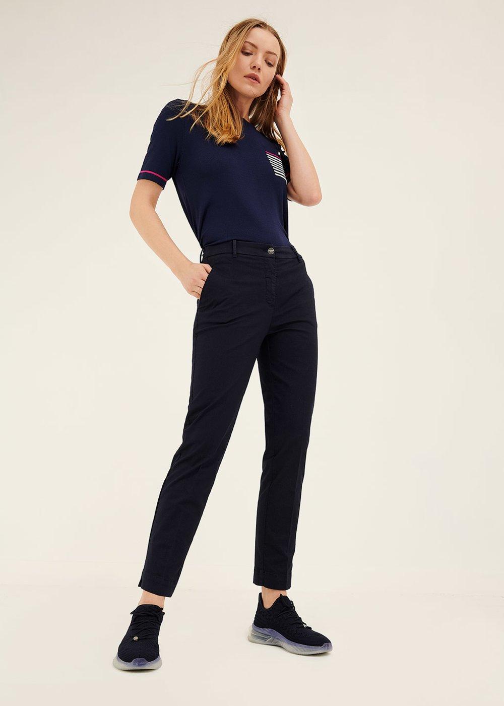 Alice slim leg trousers - Ultramarine - Woman