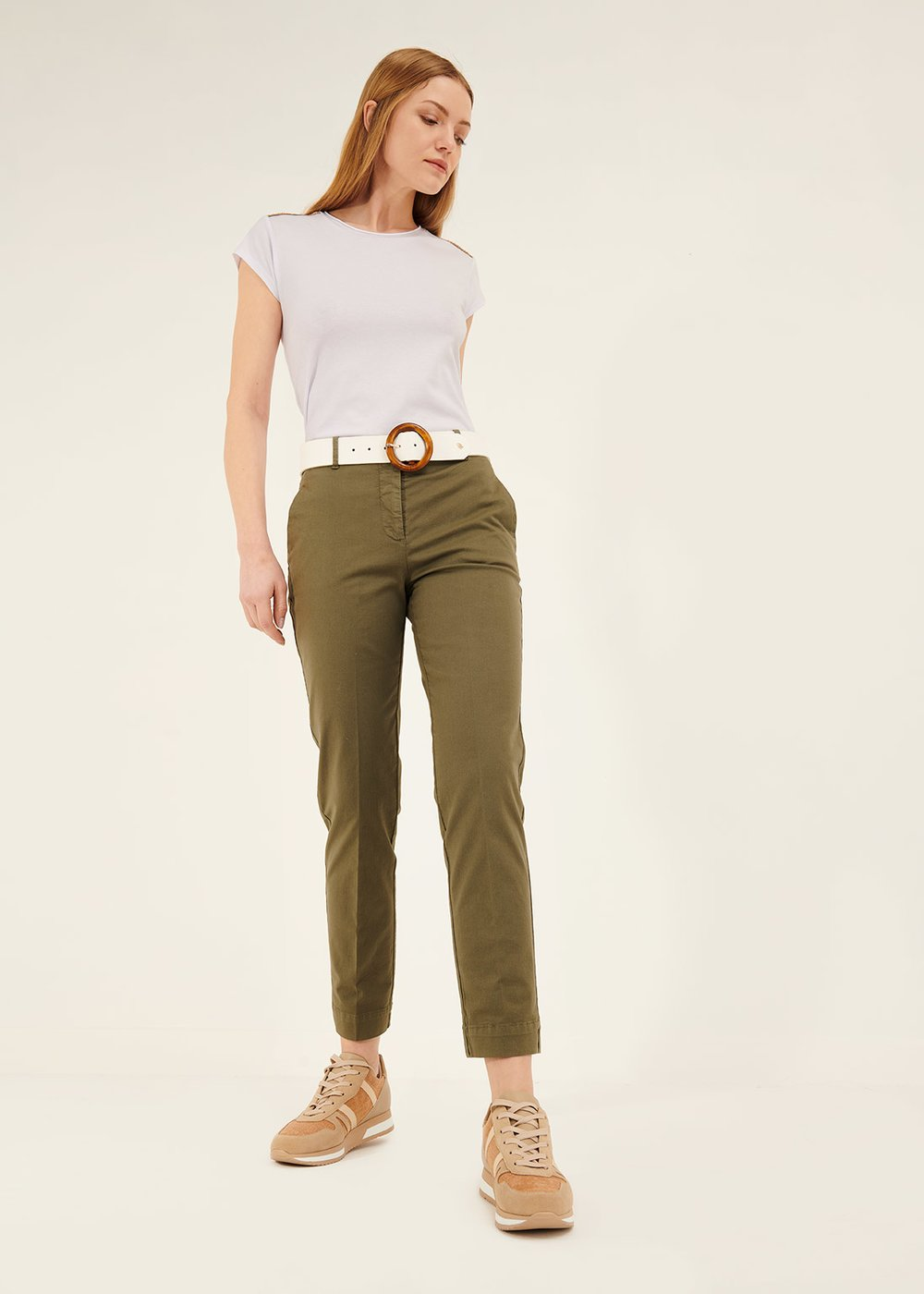 Alice slim leg trousers - Green - Woman