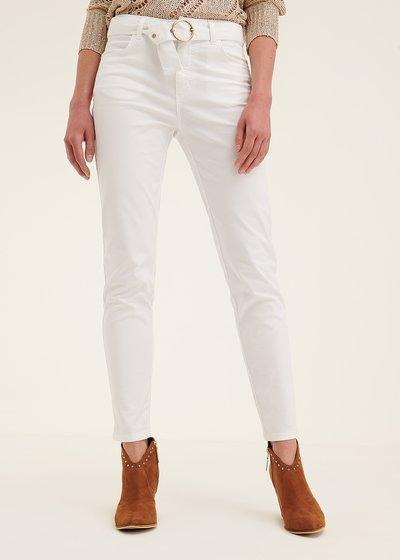 Pantalone modello Kate con cintura in tono
