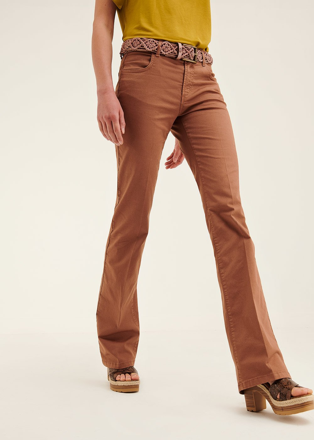 Cindy flared trousers - Pecan - Woman