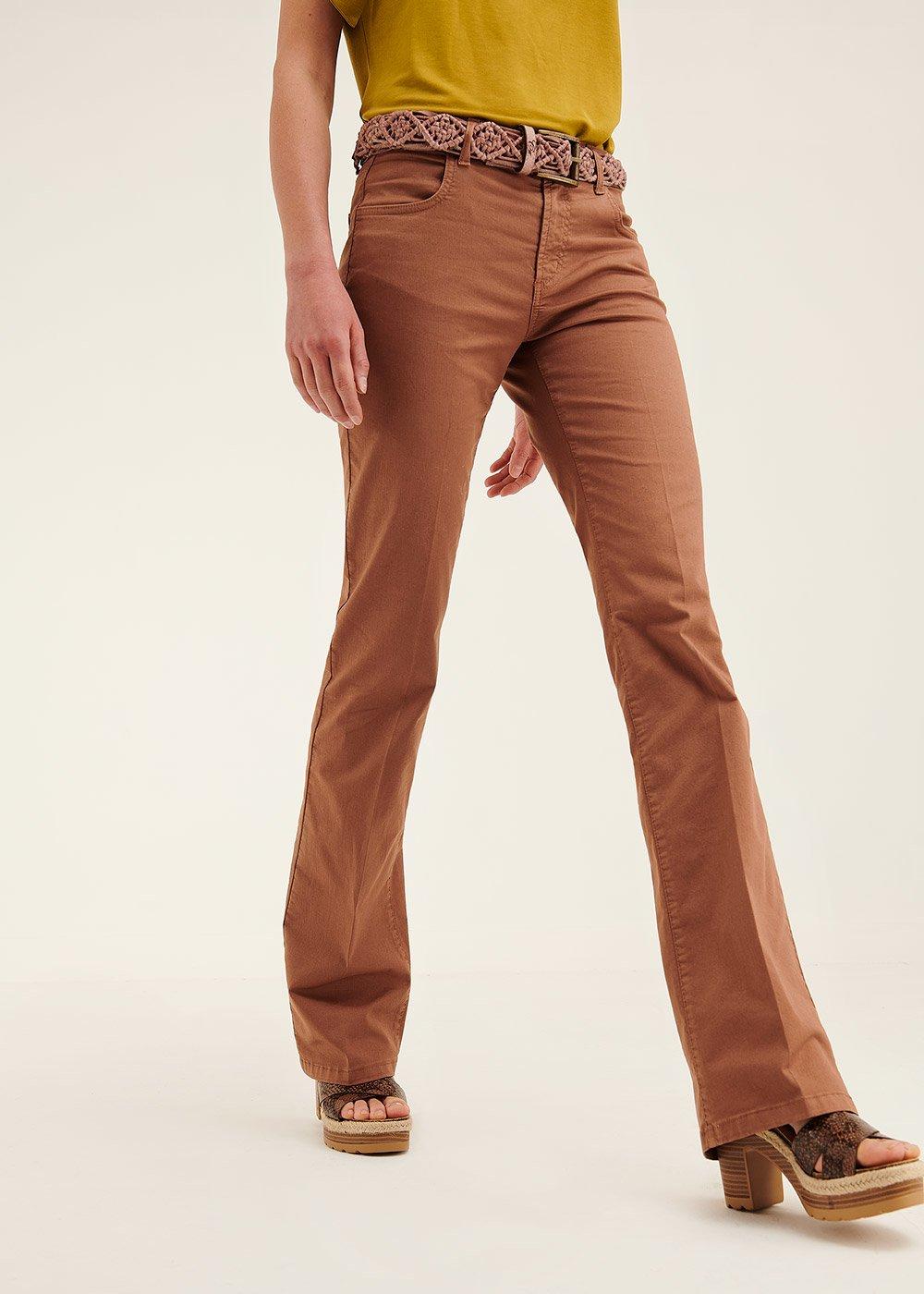 Pantalone modello Cindy modello zampa - Pecan - Donna