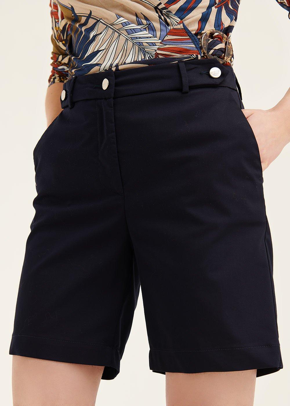 Byron cotton Bermuda shorts - Ultramarine - Woman