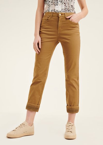 Kate trousers with crochet at hem