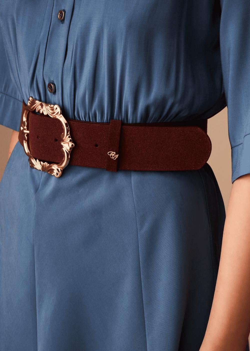 Cintura Cadyl con fibbia barocca - Melenzana - Donna