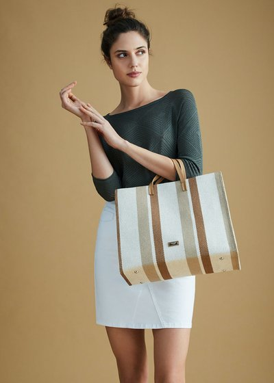 Beckie canvas shopping bag
